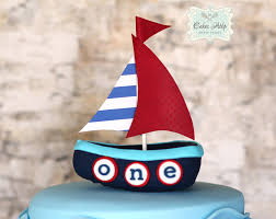 boat cake topper nautical inspired cake