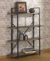 Iron And Wood Bookcase Amazon Com O U0026k Furniture 4 Tier Bookcases And Book Shelves