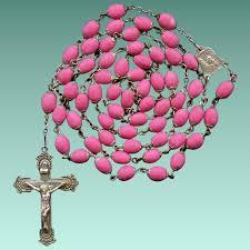 petal rosary scarce style hot pink petal rosary ecce