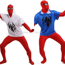 Red White Blue Halloween Costumes Cheap Spiderman White Aliexpress Alibaba Group