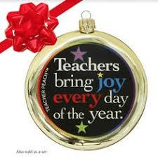 teacher gift thank you holiday ornament thank the amazing