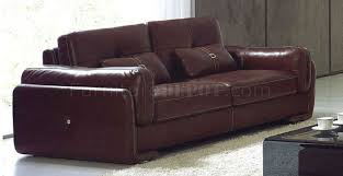 full leather modern living room 132 burgundy brown