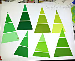 cheap paint sample christmas tree ornament craft kids crafty