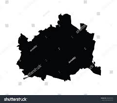 austria map vector vienna map administrative division wien austria stock vector