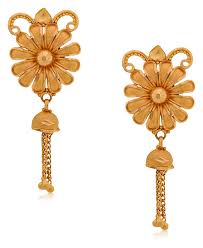 earrings gold design buy senco gold aura collection 22k yellow gold drop earrings
