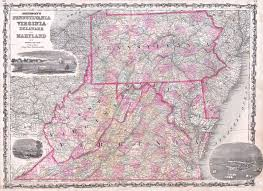 Map Virginia File 1863 Johnson Map Of Virginia Maryland Delaware