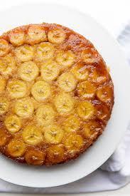 caramelized banana upside down cake broma bakery