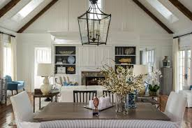 Chandelier For Cathedral Ceiling Bungalow Blue Interiors Home
