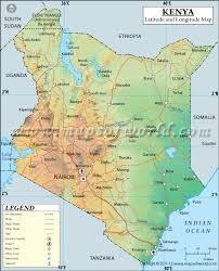 geographical map of kenya latitude and longitude map