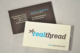 screen printed business cards light on post by s