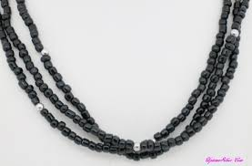 black glass necklace images N1500 shop our selection of silpada black glass 3 strand bead JPG