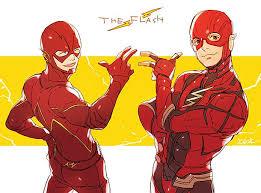 the flash fan art fan art the flash of two worlds flashtv
