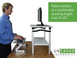 amazon com uncaged ergonomics adjustable height computer desk
