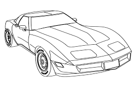 awesome corvette coloring pages printable images podhelp