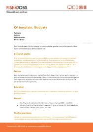 cv formats for graduates fish4jobs cv template for graduates
