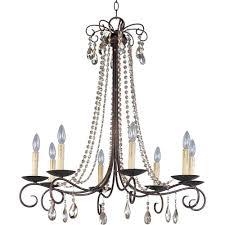 maxim lighting adriana 8 light urban rustic chandelier 22197ur
