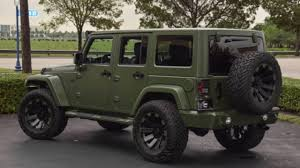 jeep unlimited green custom matte green jeep wrangler youtube