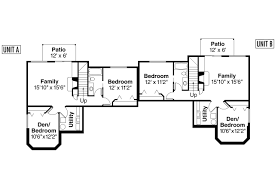Duplex Plan by Country House Plans Krammer 60 022 Associated Designs