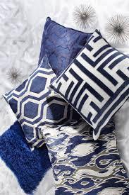 Navy Blue Decorative Pillows Navy Blue Quatrefoil Pattern Throw Pillows Hidden Zipper Enclosure