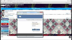 vkontakte chatroom login available youtube