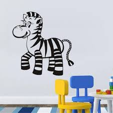 online buy wholesale wall sticker animal zebra from china wall cute home decor baby zebra vinyl wall stickers animals for kid bedroom decoration wall sticker wall