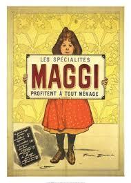 affiche cuisine retro affiche 50x70 cm cadeau pub retro specialites maggi advertising