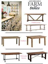 crate and barrel farmhouse table affordable farm tables via dicorcia design dicorcia interior