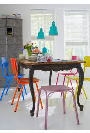 colorful kitchen chairs colorful dining chairs modern mix up design lovers blog
