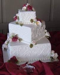 square wedding cakes delicious square wedding cakes with roses ideas food and drink