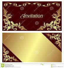 Invitation Cards Printing Invitation Card Design With Golden Borders Stock Image Image