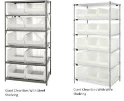 Large Clear Storage Containers - giant clear storage bins and shelving plastic bins
