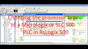 allen bradleys rslogix 500 changing the micrologix or slc