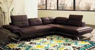 canapé d angle cuir marron deco in canape d angle design en cuir marron aurore angle