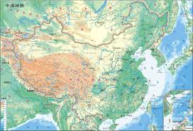 Maps Of China by Online Maps China Physical Map