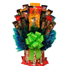 candy gift baskets all m m candy bouquet hayneedle