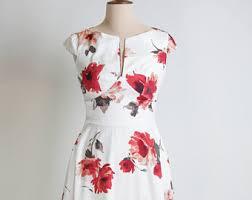 spring flower dress floral dress summer dress vintage style