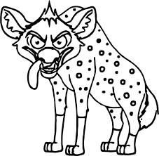 cartoon coloring pages angry looking hyena cartoon coloring page wecoloringpage