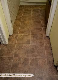 Vinyl Bathroom Flooring Tiles - bathroom progress u2026and five reasons i love groutable self adhesive