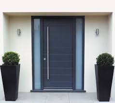Modern Door Trim Interior Awesome Black Modern Stained Solid Wood Single Door And