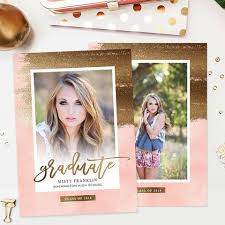 graduation announcements template senior photo card templates for photographers senior photoshop