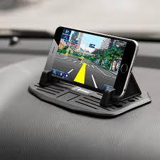 ipow car silicone pad dash mat cell phone mount holder cradle anti