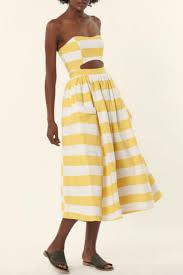 mara hoffman striped cutout mididress from pennsylvania by jasmin