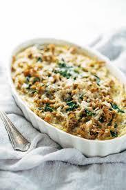 egg strata casserole creamy spinach and potato breakfast casserole recipe pinch of yum