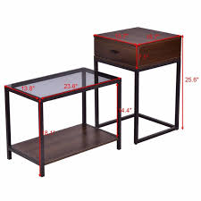 Modern End Tables 2pcs Modern End Table Black Borkut