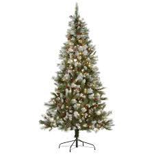 fingerhut mcleland design 7 prelit frosted tree w berries cones
