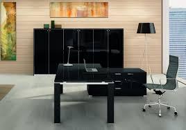 bureau noir verre bureau direction verre contemporain au design élégant vente