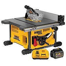 Cordless Table Ls Dewalt Dcs7485t1 Flexvolt 60v Max Table Saw Kit 8 1 4