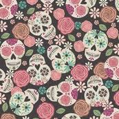 skull wrapping paper skull fabric wallpaper gift wrap spoonflower