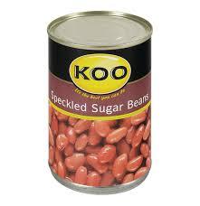 koo speckled sugar beans 12 x 410g lowest prices u0026 specials