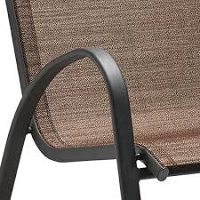 four seasons courtyard verona sling stacking chair brown model